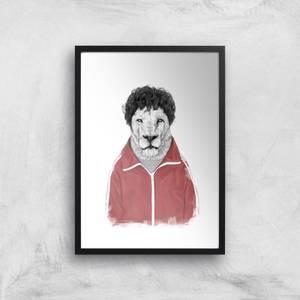 Balazs Solti Sporty Lion Art Print