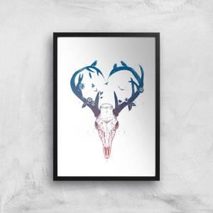Balazs Solti Antlers Art Print
