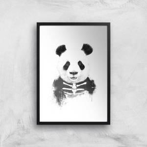Balazs Solti Skull Panda Art Print