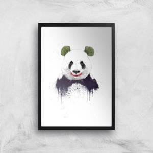 Balazs Solti Joker Panda Art Print