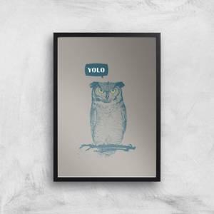 Balazs Solti YOLO Art Print