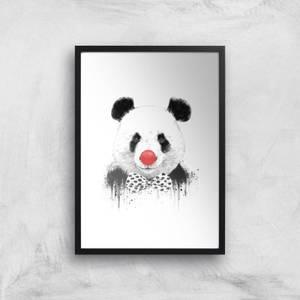 Balazs Solti Red Nosed Panda Art Print