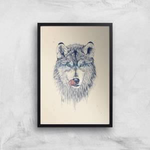 Balazs Solti Wolf Eyes Art Print