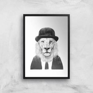 Balazs Solti Monocle Lion Art Print