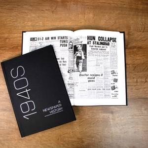 Newspaper 1940s Decade Book - Hardback