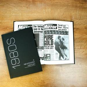 Newspaper 1980s Decade Book - Hardback