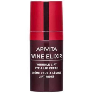 APIVITA Wine Elixir Wrinkle Lift Eye & Lip Cream krem przeciwzmarszczkowy do okolic oczu i ust 15 ml