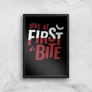 Love At First Bite Art Print