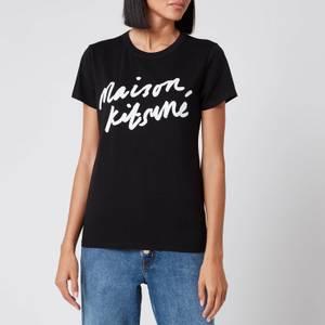 Maison Kitsuné Women's T-Shirt Handwriting - Black