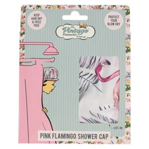 Шапочка для душа The Vintage Cosmetic Company Shower Cap — Flamingo