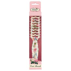 The Vintage Cosmetic Company Floral Vent Hair Brush