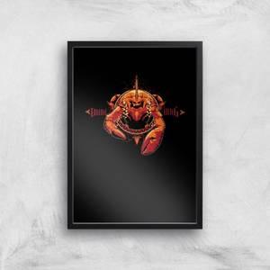 Aquaman Brine King Art Print