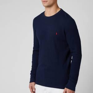 Polo Ralph Lauren Men's Long Sleeve Top - Cruise Navy/Heart Red