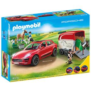 Playmobil Porsche Macan GTS with Horse Trailer and Retractable Winch (9376)
