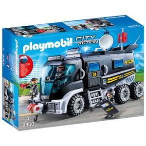 Playmobil City Action SWAT Truck mit funktionierenden Lichtern und Sound (9360)