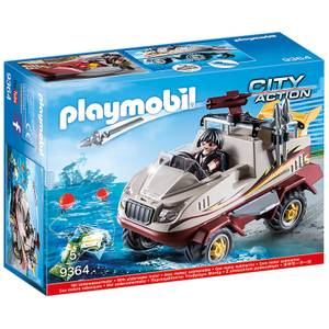 Playmobil City Action Amphibious Truck with Underwater Motor and Functioning Cannon (9364)