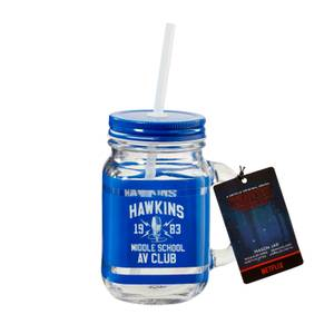Funko Homeware Stranger Things Hawkins High School Mason Jar - Blue