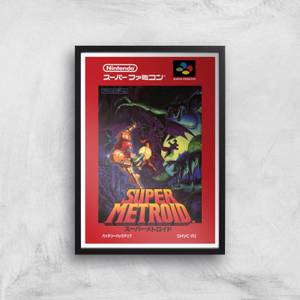 Nintendo Retro Super Metroid Cover Art Print