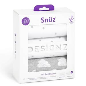 Snüz 3 Piece Bedside Crib Bedding Set - Cloud Nine