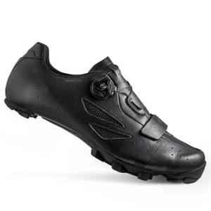 Lake MX218 Carbon Wide Fit MTB Shoes - Black/Grey