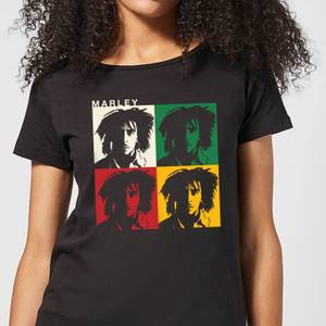 Bob Marley Faces Women's T-Shirt - Black