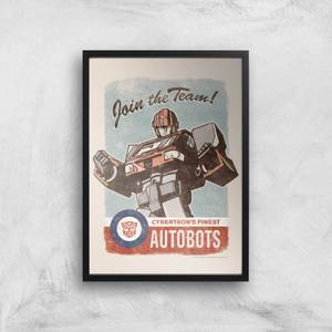 Transformers Join The Team Art Print