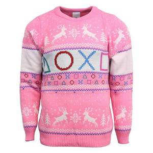 PlayStation Official Pink Knitted Christmas Sweater