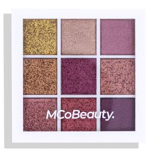 MCoBeauty Eyeshadow Palette - Burgundy/Nudes 8.1g