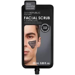 Skin Republic Men's Charcoal Facial Scrub 25ml