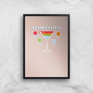 Infographic Cosmopolitan Art Print