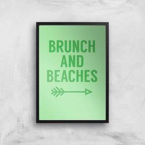 Brunch And Beaches Art Print