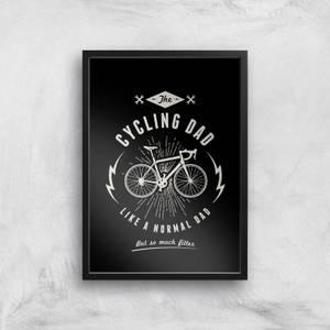 Cycling Dad Art Print