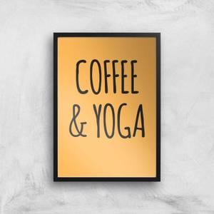 Coffee And Yoga Art Print
