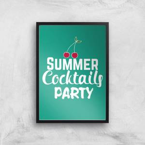 Summer Cocktails Party Art Print