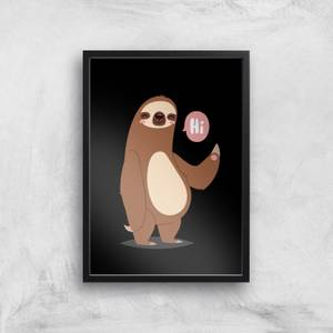 Sloth Hi Art Print