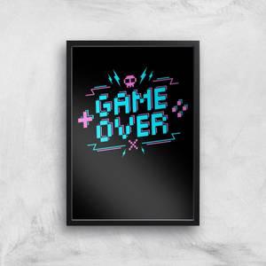 Game Over Gaming Art Print