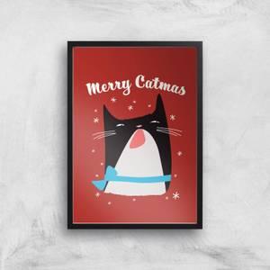 Merry Catmas Art Print