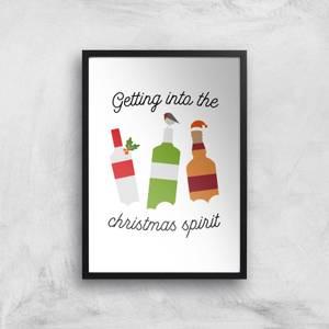Getting Into The Christmas Spirit Art Print