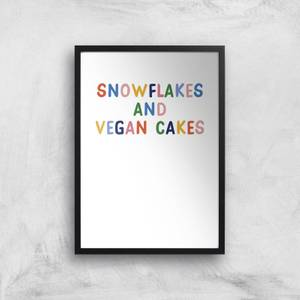 Snowflakes And Vegan Cakes Art Print