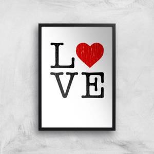 Love Heart Textured Art Print