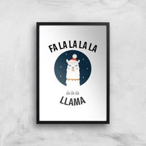 Fa La La La Llama Art Print