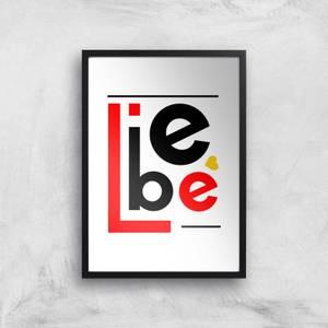Liebe Block Art Print