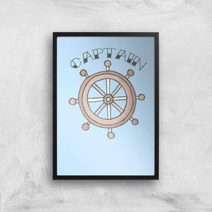Captain Of The Ship Art Print