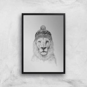 Lion With Hat Art Print