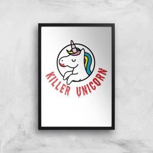 Killer Unicorn Art Print