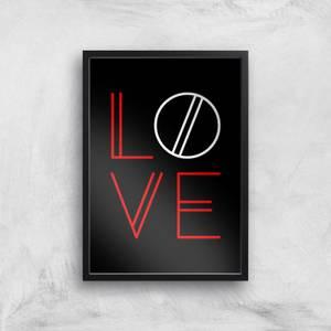 Love Geo Art Print