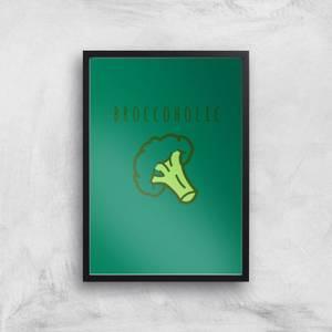 Broccoholic Art Print