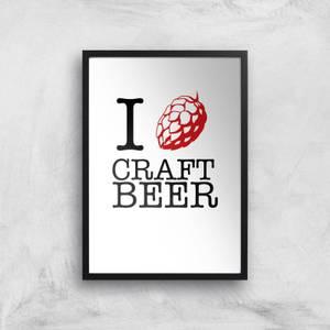 I Hop Craft Beer Art Print