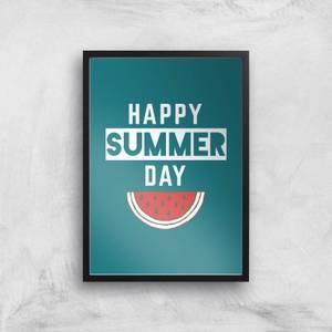 Happy SUmmer Day Art Print