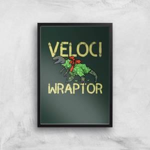 Veloci Wraptor Art Print